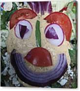 Mohawk Salad Face Canvas Print