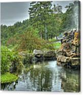 Mohonk Koi Pond On A Rainy Day Canvas Print