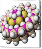 Molecular Bearing, Computer Model Canvas Print