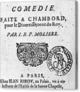 Moliere (1622-1773) Canvas Print