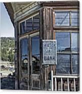 Molson Washington Ghost Town Bank Canvas Print