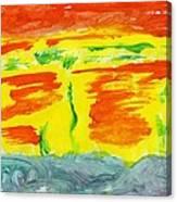 Molten River Canvas Print