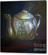Mom's Teapot - Alice Canvas Print
