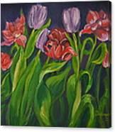 Mom's Tulips Canvas Print