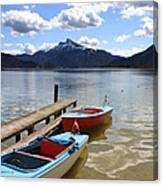 Mondsee Lake Boats Canvas Print