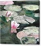 Monet's Lily Pads Canvas Print