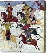 Mongol Battle, C1400 Canvas Print
