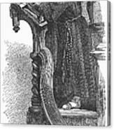 Monk Preaching Canvas Print