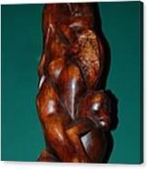 Monkey Carving Canvas Print