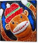 Monkey Sock Around Canvas Print