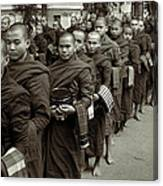 Monks In The Monastery Canvas Print