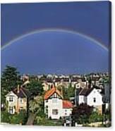 Monkstown, Co Dublin, Ireland Rainbow Canvas Print