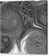 Mono Swirl Abstract Canvas Print