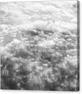Monochrome Clouds Canvas Print