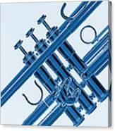 Monochrome Trumpet Canvas Print