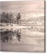Monotone Winter Canvas Print