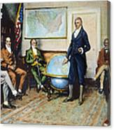 Monroe Doctrine, 1823 Canvas Print