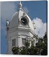 Monroeville Courthouse Clock Canvas Print