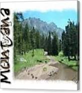 Montana Howdy Canvas Print