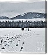 Montana Ice Fishing Canvas Print