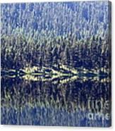 Montana Lake Reflection Canvas Print