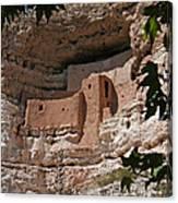 Montezuma Castle Cliff Dwellings In The Verde Valley Of Arizona Canvas Print