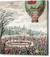 Montgolfier Balloon Le Flesselles Canvas Print