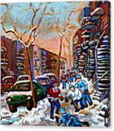 Montreal Hockey Paintings Canvas Print