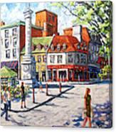 Montreal Street Urban Scene By Prankearts Canvas Print