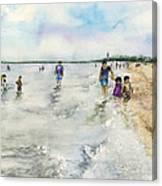 Montrose Beach Canvas Print