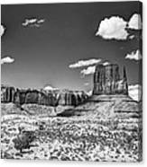 Monument Valley In Monochrome  Canvas Print