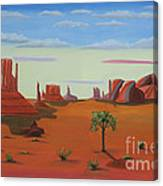 Monument Valley Lone Tree Canvas Print