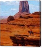 Monument Valley Pastel Canvas Print
