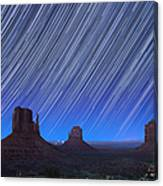 Monument Valley Star Trails 1 Canvas Print