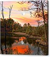 Moon And Pond Canvas Print