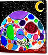 Moon Doggy Canvas Print