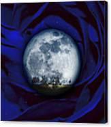 Moon Has Rose Canvas Print