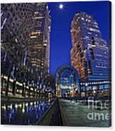 Moon Over Financial Center Canvas Print