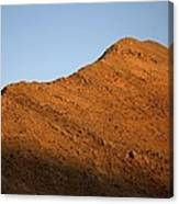 Moon Over Mountain At Sunset Canvas Print