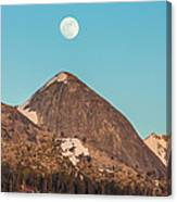 Moon Over Sierra Peak Canvas Print