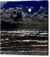 Moon Over The Pacific Canvas Print