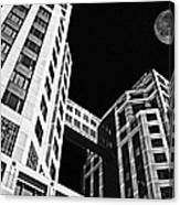 Moon Over Twin Towers 2 Canvas Print