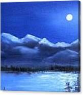Moonlight Over The Chugach Canvas Print