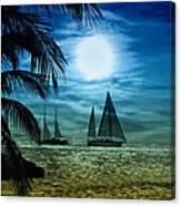 Moonlight Sail - Key West Canvas Print