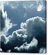Moonlit Clouds Canvas Print