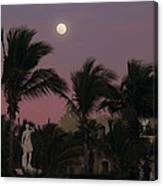 Moonlit Resort Canvas Print