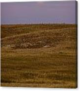 Moonrise Over Badlands South Dakota Canvas Print