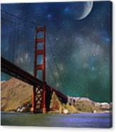Moonrise Over The Golden Gate Canvas Print