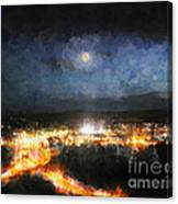 Moonshine Over Prescott Canvas Print