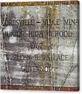 Mooresville - Belle Mina Junior High School 1967 Canvas Print
